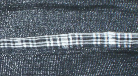 A closeup of the woven fabric