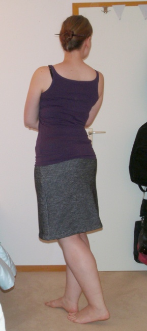 Herringbone Skirt - back