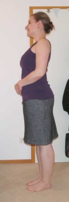 Herringbone Skirt - side view