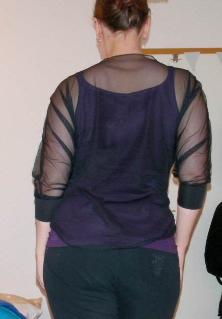 Short Lace Top - back view